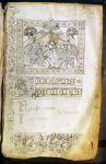 Decorazione del catasto dei beni dei figli di Niccolò Piccinino (1446)