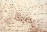 Particolare da una mappa catastale settecentesca: il castello di Mongiovino
