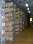 Uno dei depositi della Sezione di Archivio di Stato di Spoleto