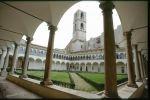 Il chiostro del convento di S. Domenico, sede dell'Archivio di Stato di Perugia