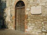 L'ingresso della sede della Sezione di Archivio di Stato di Gubbio