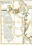 Sezione di Foligno, tratto del percorso del fiume Topino (A. Morichini, 1737)